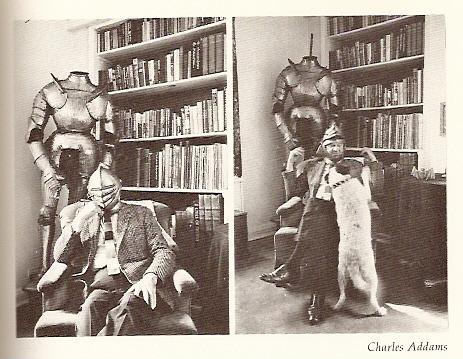 Charles Addams Drawings Charles Addams And His Dog